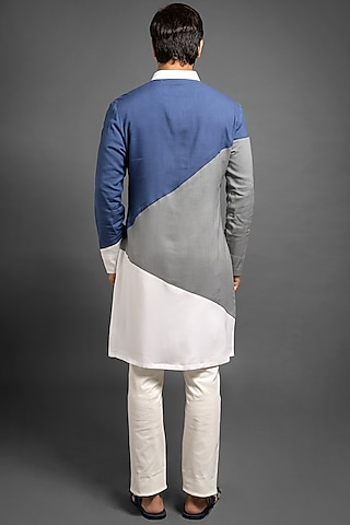 Multi Colored Viscose Kurta by Mitesh Lodha