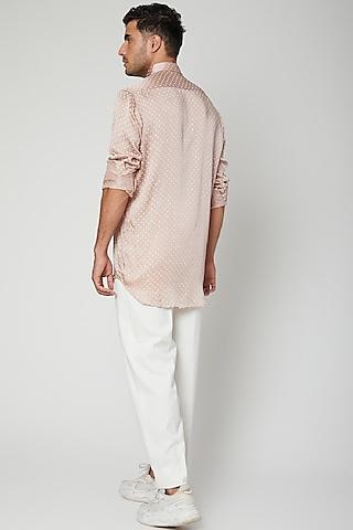 Lilac Shirt With Pajama Pants by Mint Blush Men