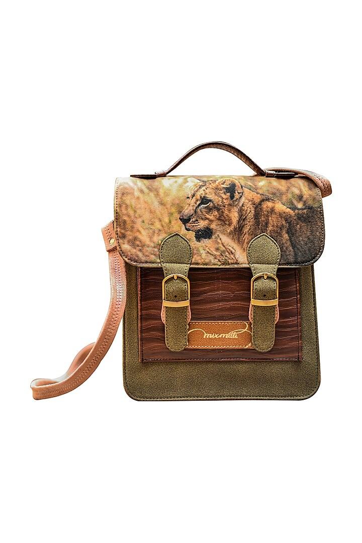 Multi Colored Printed Handbag by Mixmitti