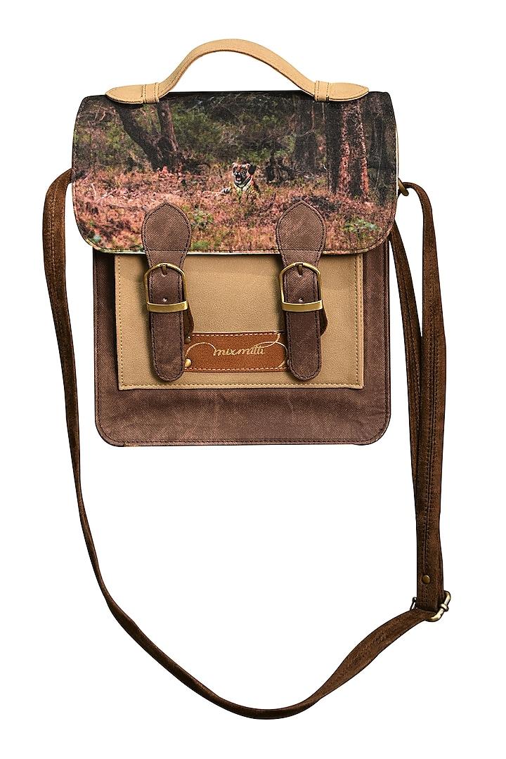 Multi Colored Digital Printed Handbag by Mixmitti