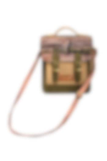 Multi Colored Digital Jungle Printed Handbag by Mixmitti