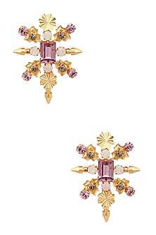 Gold Plated Swarovski Crystal Stud Earrings by Micare