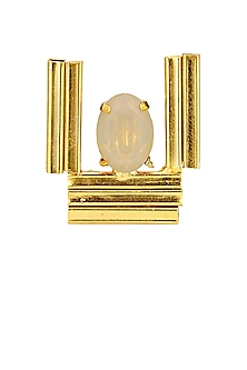 Gold finish sand opal ring by Sonnet Jewellery-JEWELLERY ON DISCOUNT