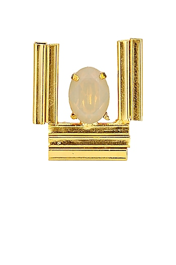 Gold finish sand opal ring by Sonnet Jewellery