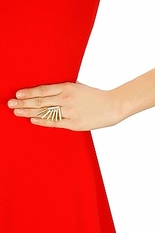 Gold finish themis ring by Sonnet Jewellery