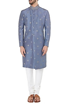 Purple Embroidered Sherwani by Mitesh Lodha
