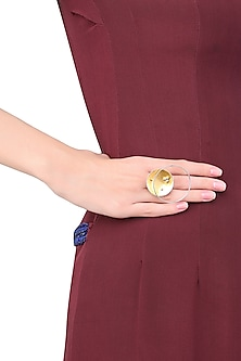 Silver and Gold Plated Flux Ring by Misho