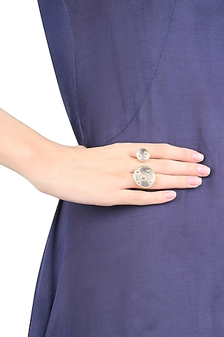 Gold Plated Double Ring by Misho