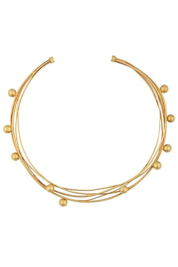 Gold Plated Gravity Choker Necklace by Misho