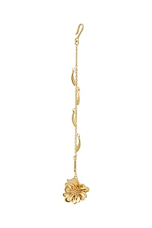 Gold Plated Maang Tikka by Mirakin