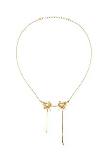 Gold Plated CZ Stone Necklace by Mirakin