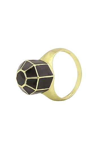 Gold Plated Dome Ring by Mirakin