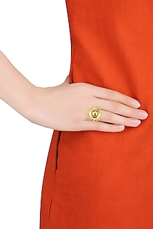 Gold Plated Sunshine Ring by Mirakin
