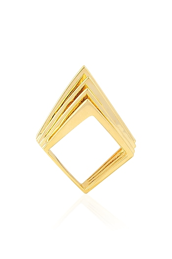 Gold Plated Tetris Ring by Mirakin