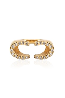 Gold Plated Horseshoe Ring by Mirakin