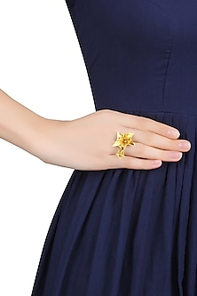Gold Plated Sound Of Music Ring by Mirakin