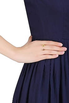 Gold Plated Gramophone Ring by Mirakin