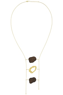 Gold Plated Three Different Coin Shaped Like Necklace by Mirakin