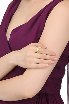 Gold Plated Istanbul Landscape Ring by Mirakin