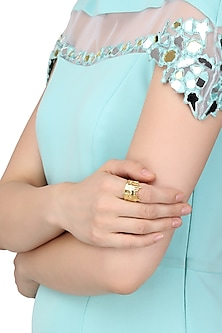 Gold Plated Hawa Mahal Landscape Ring by Mirakin