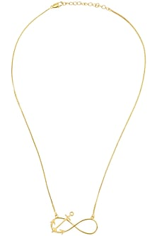 Gold Plated Infinite Motif Necklace by Mirakin