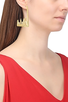 Gold Plated New York City Skyline Earrings by Mirakin
