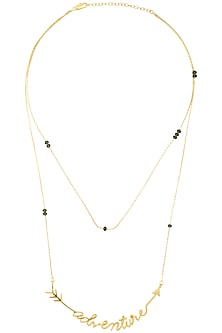 Gold Plated Adventure Chain Necklace by Mirakin