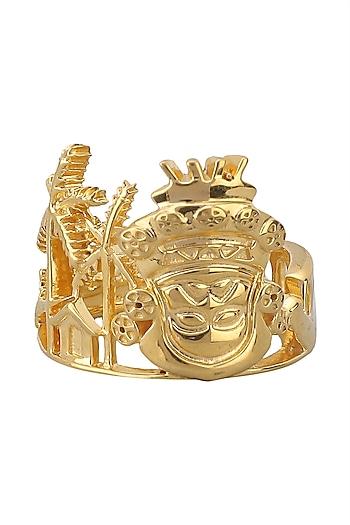 Gold Plated Kerala Cityscape Ring by Mirakin