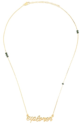 Gold Plated Explorer Chain Necklace by Mirakin
