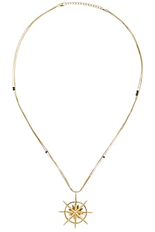 Gold Plated Pointing Nature Necklace by Mirakin