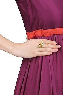 Gold Plated Flying High Ring by Mirakin