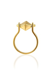 Gold Plated Turntable Ring by Mirakin