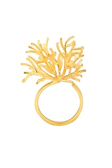 Gold Plated Branched Ring by Mirakin
