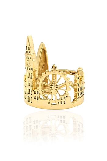 Gold Plated Londonscape Ring by Mirakin
