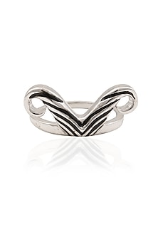 Rhodium Finish The Mo Ring by Mirakin