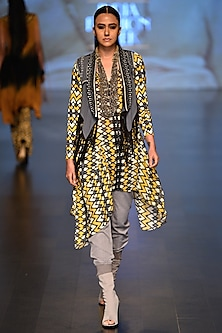 Grey Mystic Waistcoat and Love Cloud Tunic by Malini Ramani