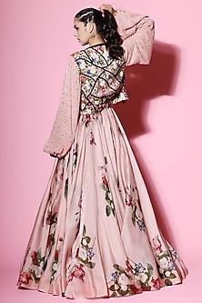 Blush Pink Embellished Lehenga Set by Mahima Mahajan