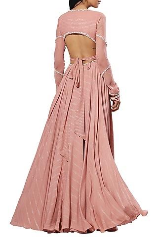 Blush Pink Embellished Lehenga Skirt With Blouse by Mahima Mahajan