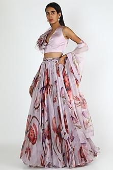 Lilac Printed Lehenga Set by Mahima Mahajan-POPULAR PRODUCTS AT STORE