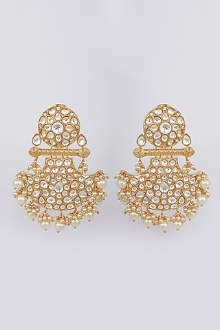 Pink Glass Beads Earrings by Moh-Maya By Disha Khatri