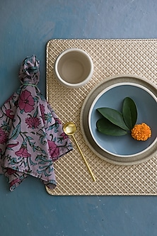 Golden Leather Luxury Placemats by Chrysante By Gunjan Gupta