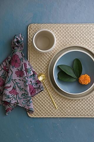 Golden Leather Luxury Placemats by Chrysante By Gunjan Gupta