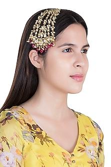 Gold plated Kundan Passa by Moh-Maya by Disha Khatri