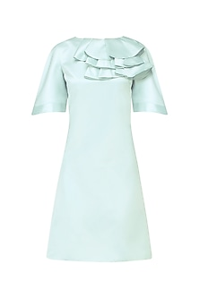 Chalk Blue Trapeze Dress by Manika Nanda