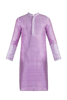 Lavender Embroidered Kurta by More Mischief