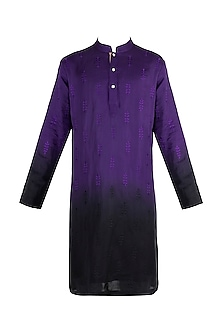 Purple Embroidered Ombre Kurta by More Mischief
