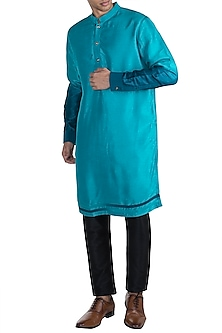 Blue Ombre Sleeves Kurta by More Mischief