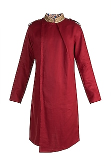 Red Embroidered Kurta by More Mischief