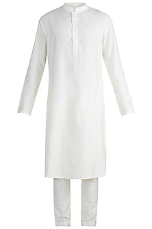 Pearl White Kurta Set by More Mischief
