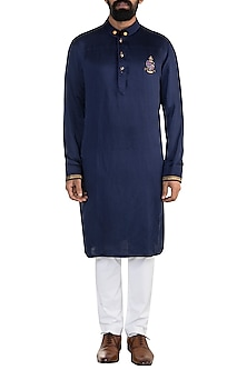 Blue Embroidered Kurta by More Mischief